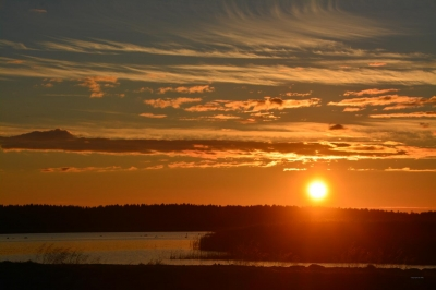 Abendrot verzaubert Meer und Himmel
