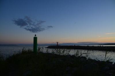 Blaue Stunde am Hafen