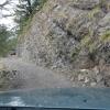 Der Weg in den Fels geschlagen.