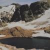 Gletscher und See in früheren Jahren - Schautafelfoto vor Ort