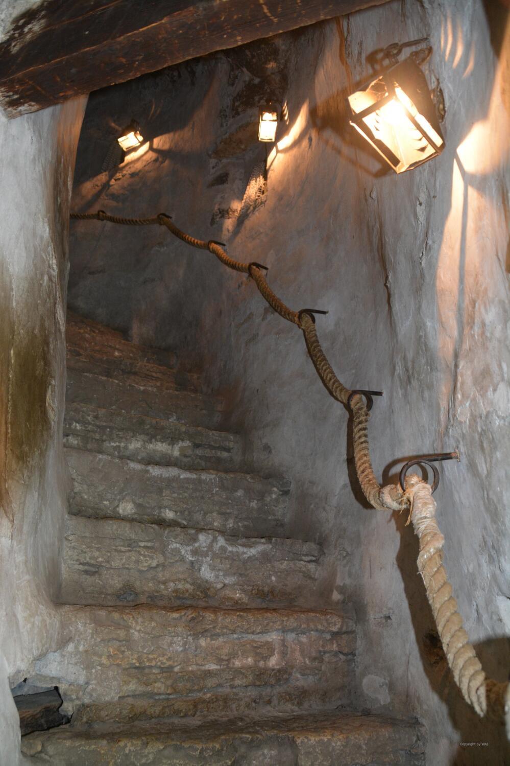 die Treppe hinauf schwer zu erobern ...