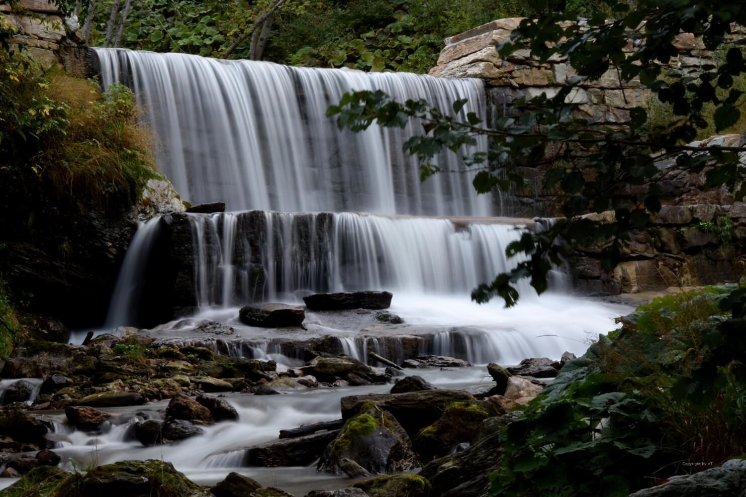 Wasserfall am Flusscamp