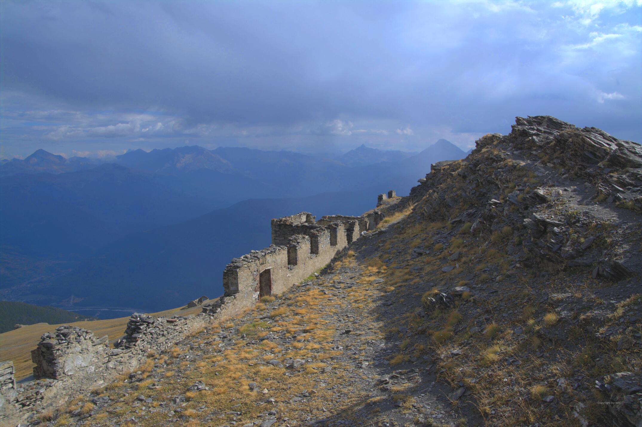 Ruine des Gipfelforts
