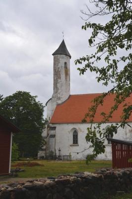Eigenwilliger Kirchturm von Harju-Risti