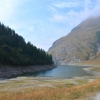 Niedriger Pegel im Lago d'Rochemolles