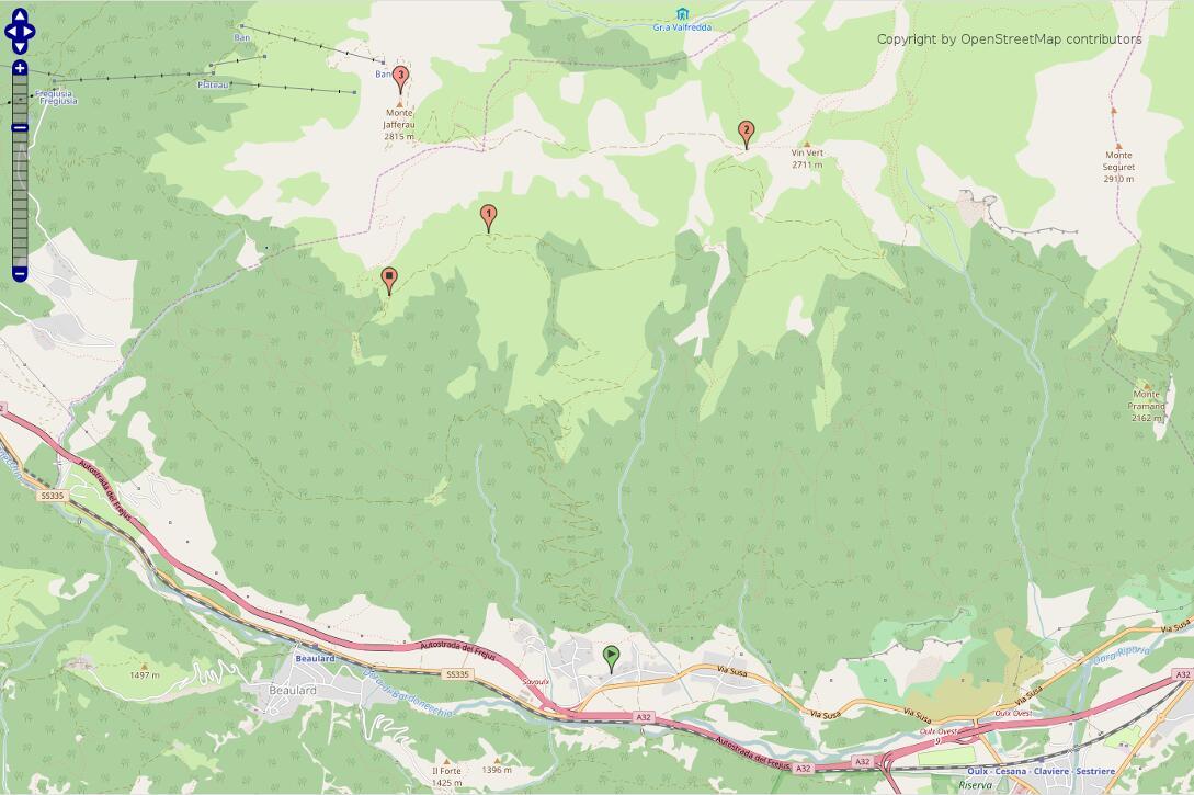 Unser Weg zum Monte Jafferau