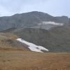 Blick vom Parkplateau zum Gletscher