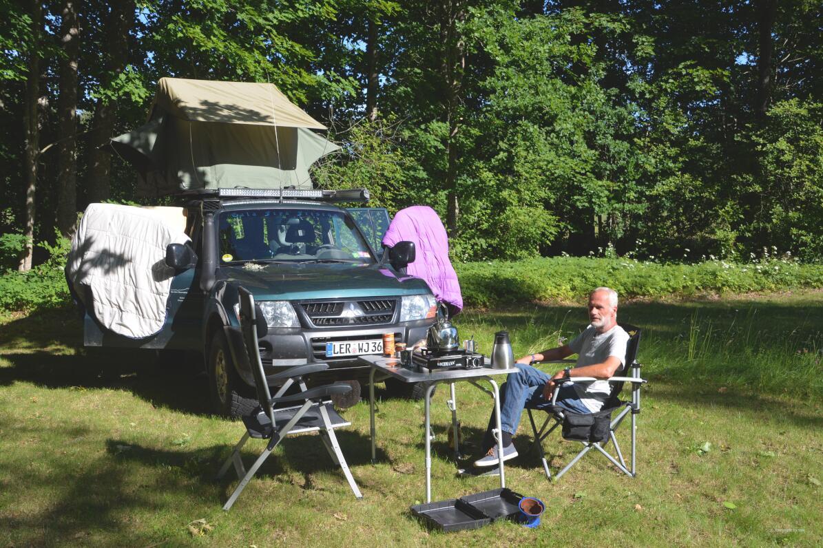 Campingplatz im Entstehen