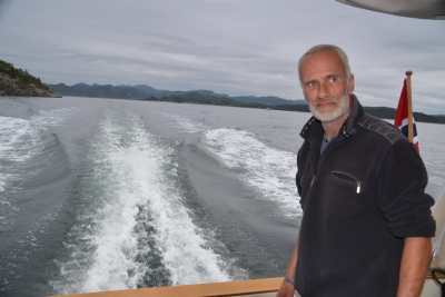 Mein Skipper sondiert das fremde Revier...