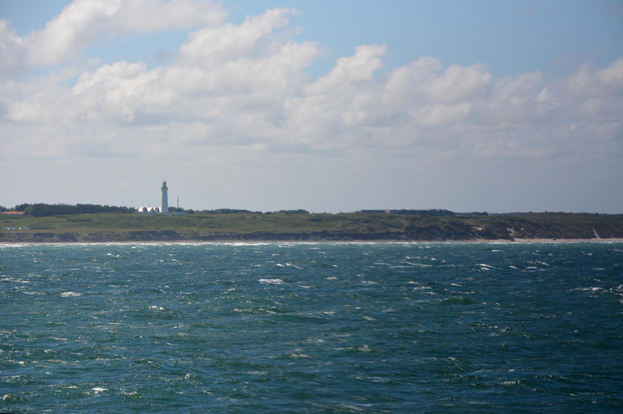 Dänemarks Küste in Sicht