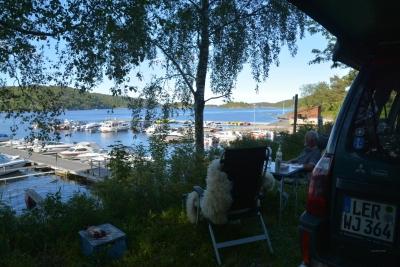 Netter Stellplatz am Fjordhafen