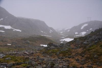 Nebelverhangenes Plateau