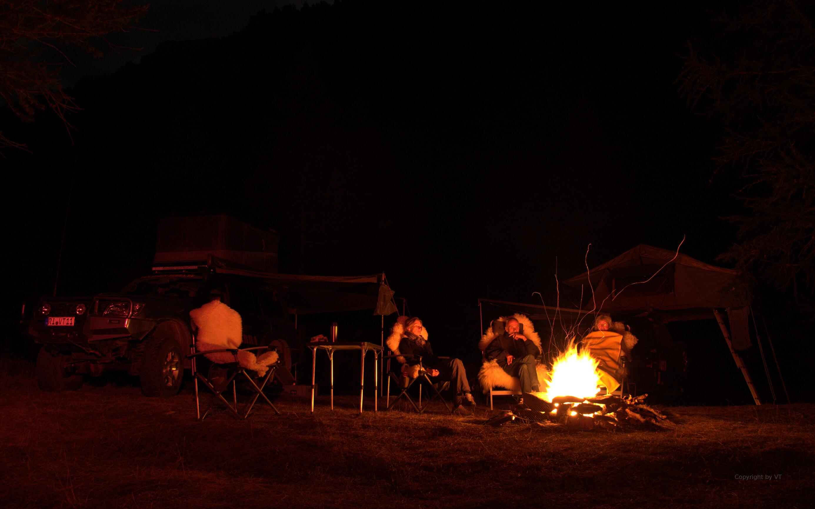 Lagerfeuer im Val d'Rochemolles
