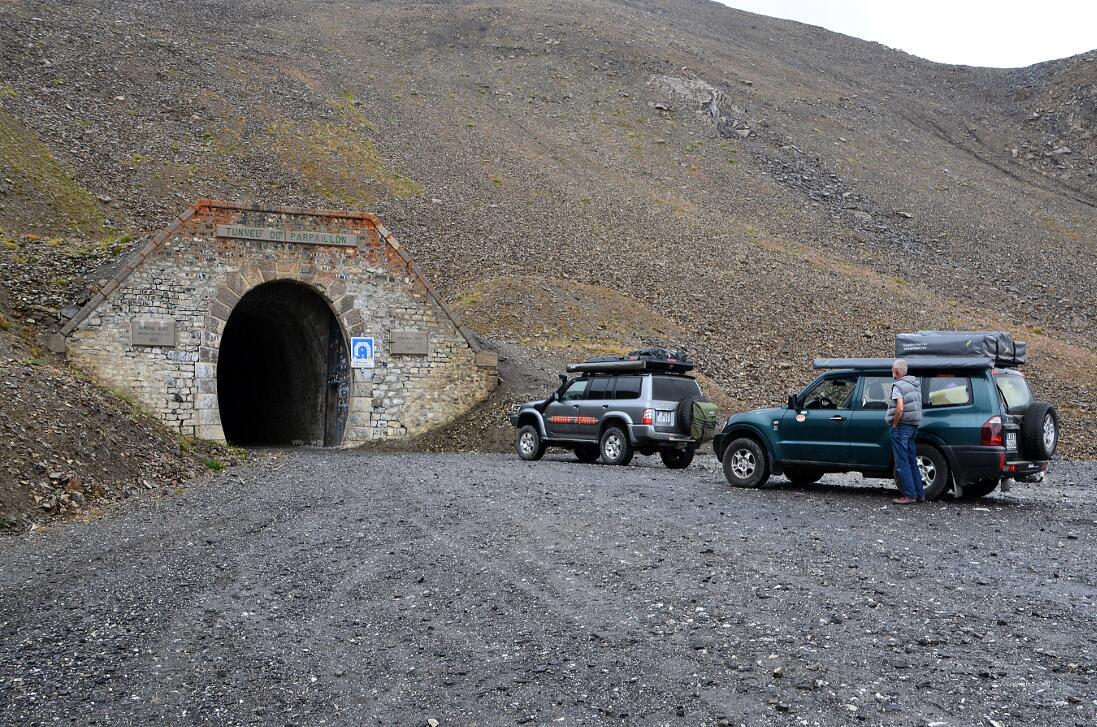 Tunneleingang an der Nordwest-Rampe