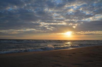 letztes Licht in den Wellen